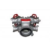 Разветвления, водосборники, сетки, ключи, гидроэлеваторы, переходники - Рукавное четырехходовое разветвление РЧ-150