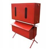 Металлические стенды, ящики для песка - Стенд пожарный закрытого типа с опрокидывающимся ящиком